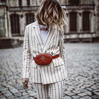 @jennifer Nisan #fannypacks #love #gucci #belt #spring #love #red #blonde #fashion #designer #style #trend